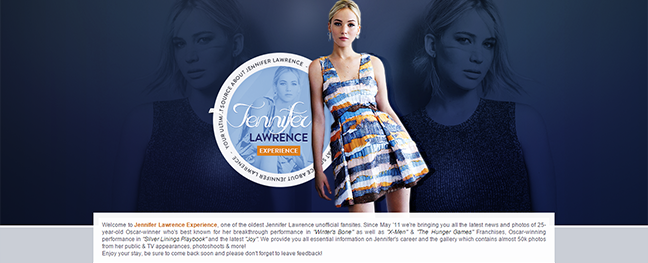 New Design on JenniferLawrence.org & JenniferLawrence.org/Photos!
